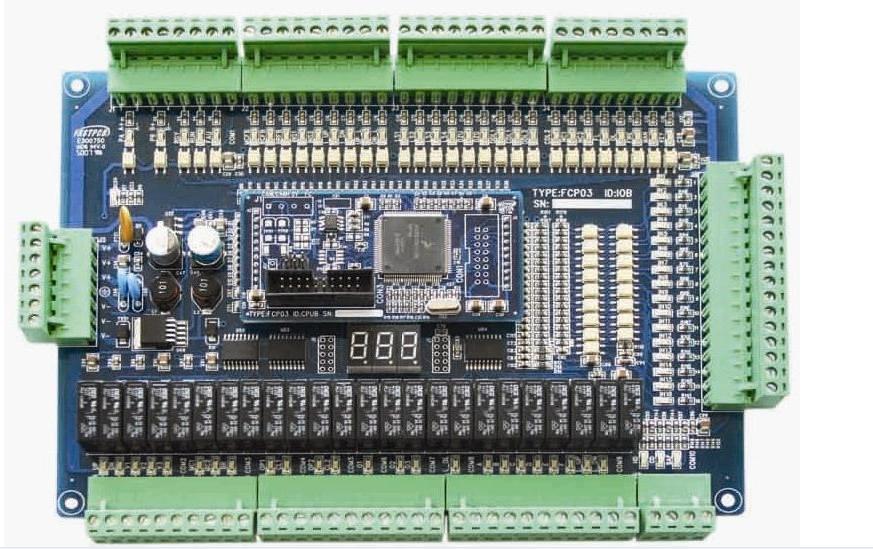 产品名称:并行主板 型 号: FCP03 功能特点: A. Freescale (原Motorola)公司工业级CPU,极强的抗干扰性能,采用独特的软硬件抗干扰措施,系统稳定可靠。 B. 主板可控制六层电梯,加扩展板可达11层站。 C. 电梯速度最高可达3.0米/秒,适应不同变频器(安川、富士、西威、科比、蒂茨、东芝等 )。 D.